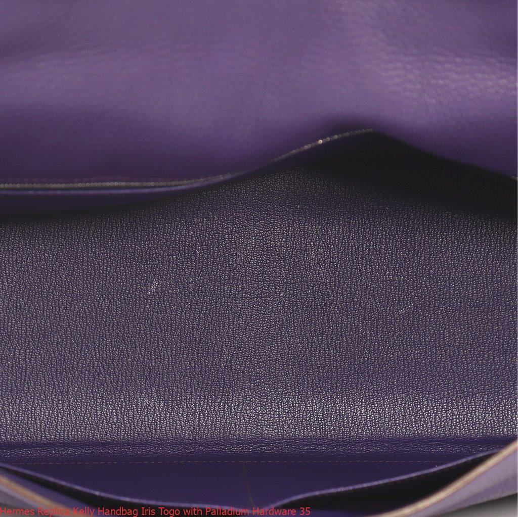 b49f10b80c91 Hermes Replica Kelly Handbag Iris Togo with Palladium Hardware 35 ...