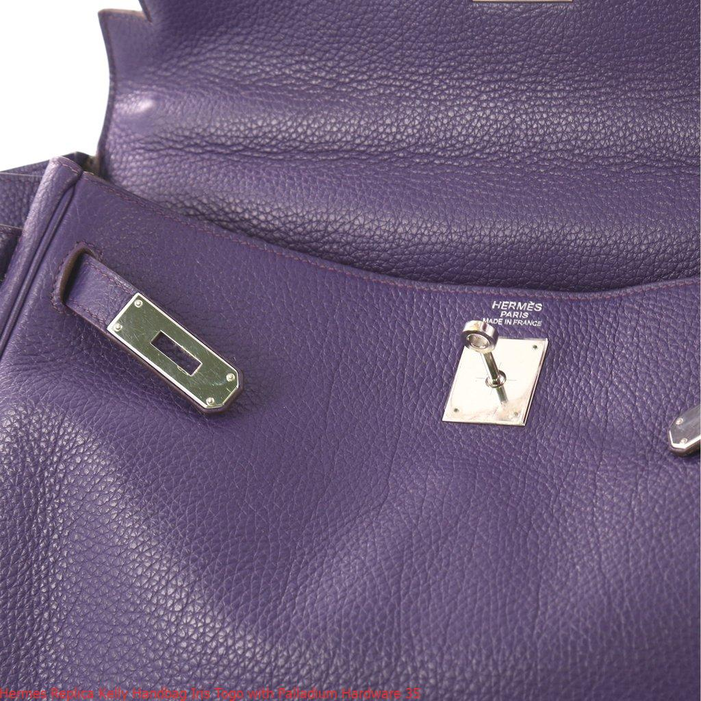 da6373f3d32e Hermes Replica Kelly Handbag Iris Togo with Palladium Hardware 35 ...