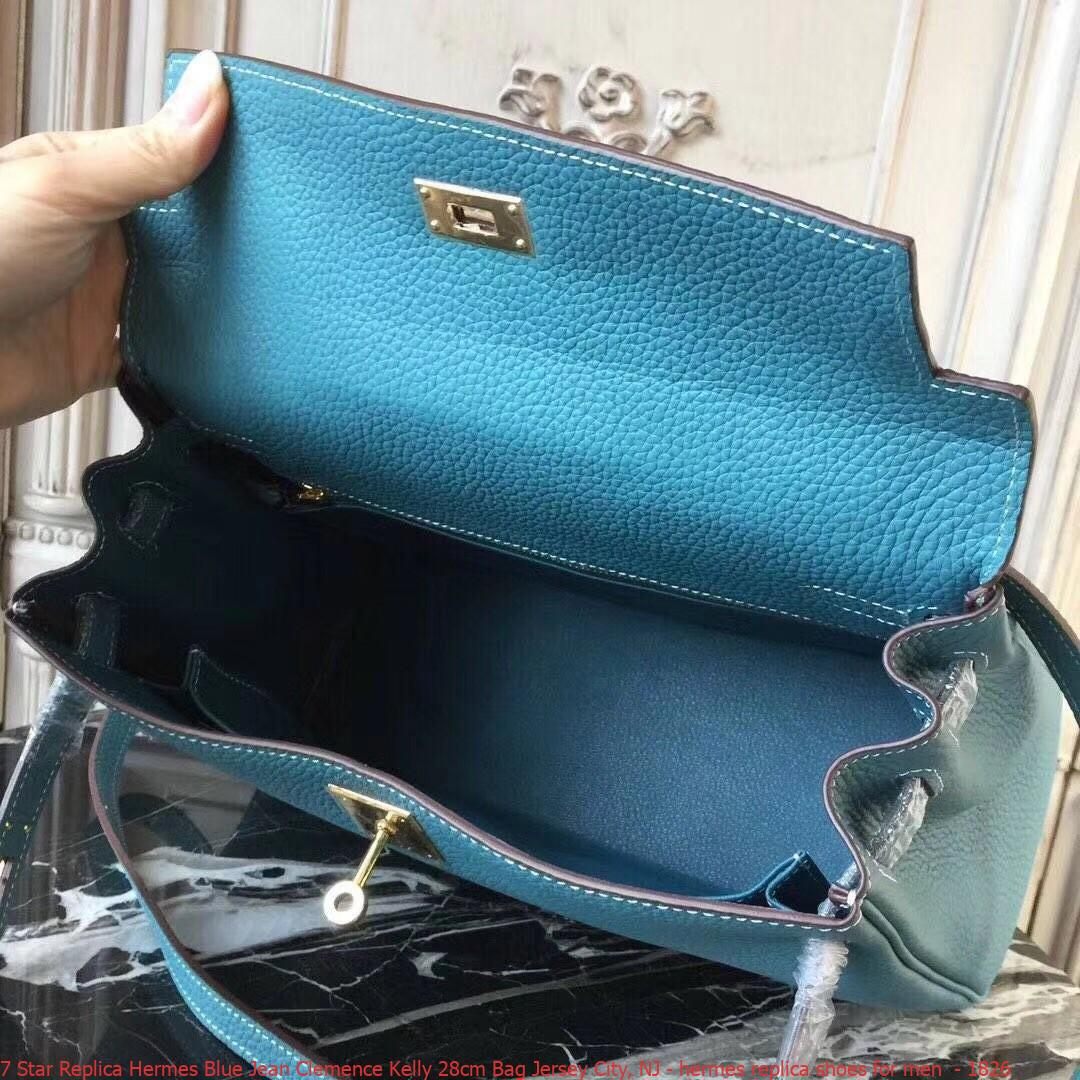 dc5178a58e4d 7 Star Replica Hermes Blue Jean Clemence Kelly 28cm Bag Jersey City ...